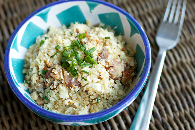 Garlic-Bacon Cauliflower Rice